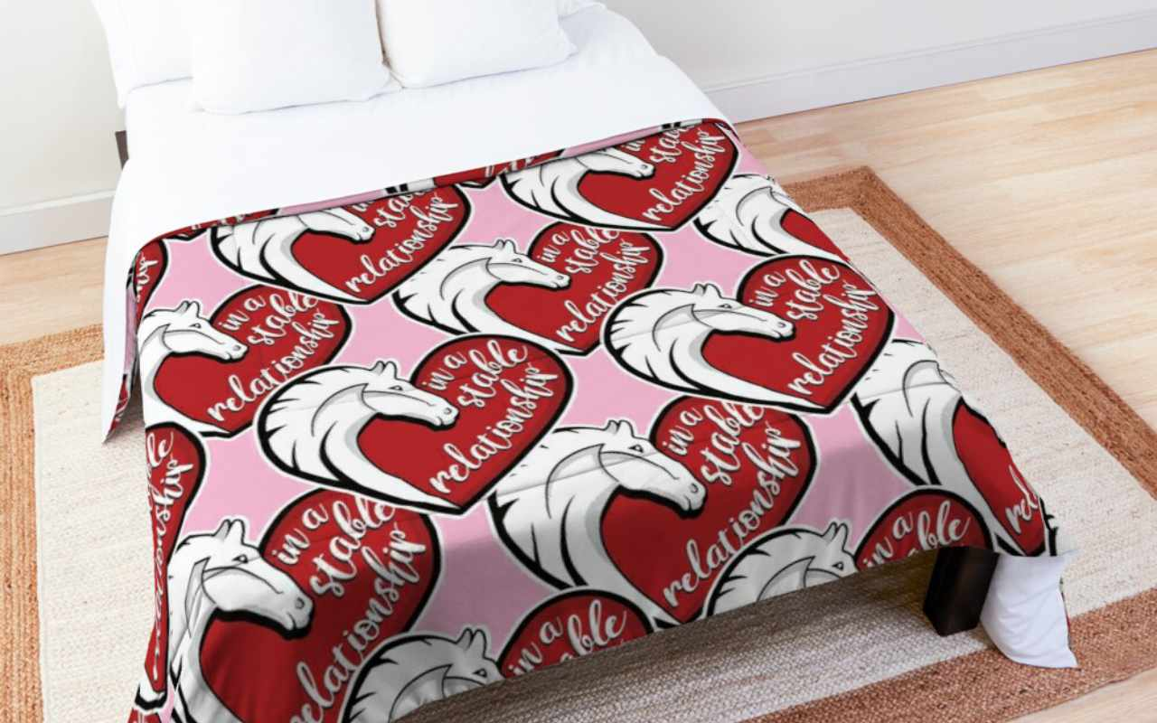 In a stable relationship comforter
