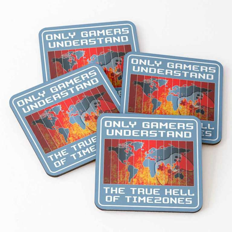 Only gamers understand the true hell of timezones coasters