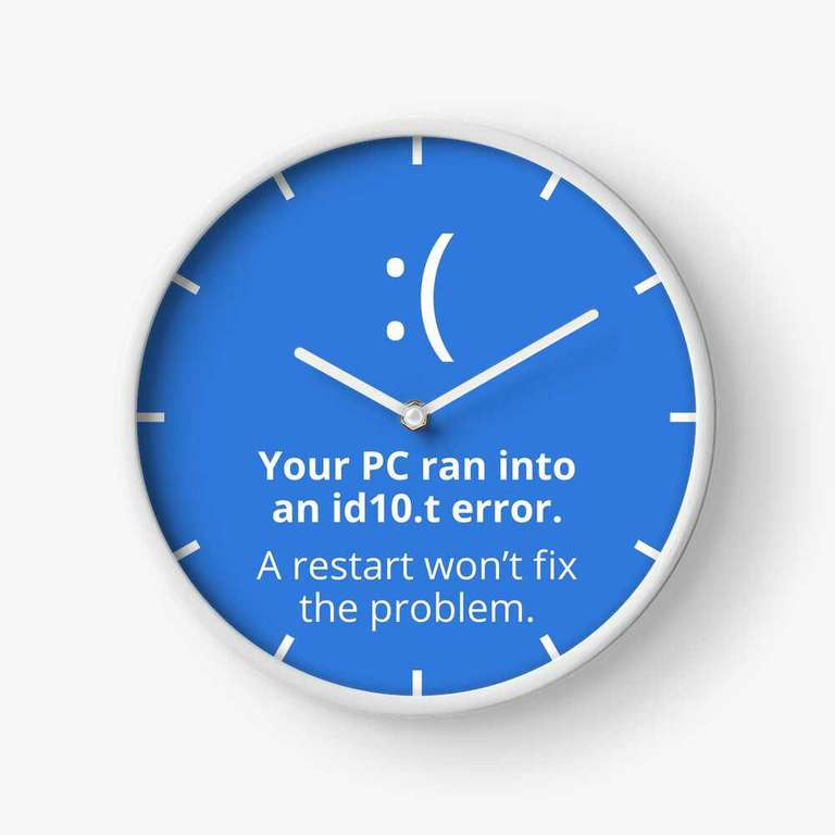 Your PC ran into an id10.t error clock
