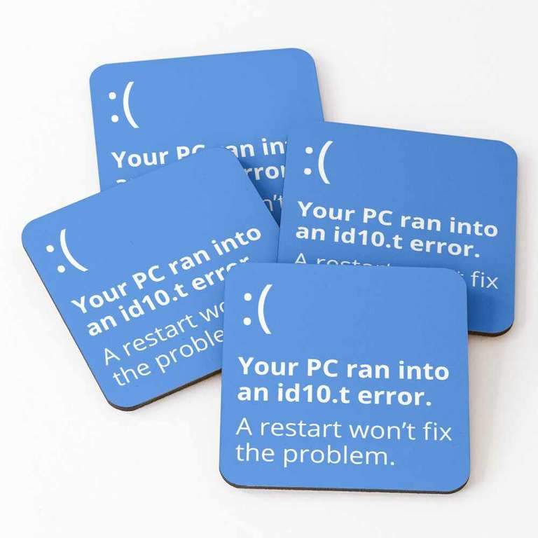 Your PC ran into an id10.t error coasters